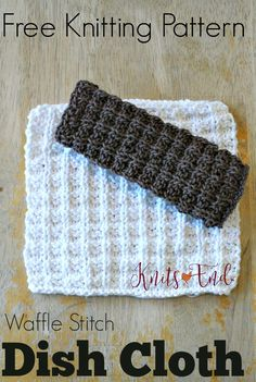 Hand Knit Dish Cloth, especially when they're done in 100% cotton, is another DIY you'll feel great about. Extra points for using bamboo knitting needles.
