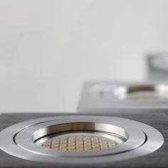 LED Aufbaustrahler aufputz schwenkbar Aluminium gebürstet GU10-230V #WF1