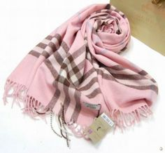 Special Price : $84.00 - Burberry Pink Grid Shawl