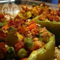 Piments farcis à la dinde et aux légumes @ qc.allrecipes.ca
