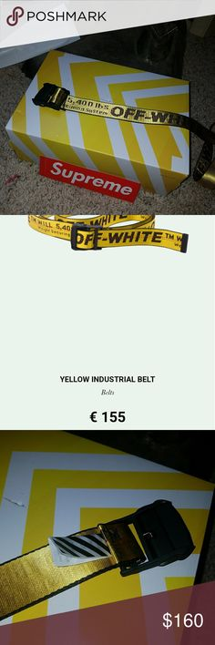 Off white industrial belt Got it from a seller on eBay, he kept the tags and every thing else,and its not my style,trying to sell it. 160 OBO Off-White Accessories Belts