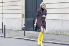 Who said Color is not allowed!! Winter gear up! #StreetStyle #Vogue #Zurikgirl #ZgFashionTalk