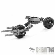 Batpod V3 - Custom LEGO Element Kit by ICHIBAN Toys. $17.99. LEGO® is a registered trademark of The LEGO Group which does not sponsor, authorize or endorse this product. DC Comics E. C. Publications, Inc. and Warner Communications Inc do not sponsor, authorize or endorse this product.. Carefully chosen tires that spin easily, steer easily and allow the machine to stand up by itself!. The gimble system also allows the rear wheel to spin SIDEWAYS! This is when the Batpod takes s...