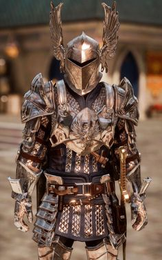 I love it when Grey Warden armour shows up in other categories! Armadura Medieval, Medieval Armor, Medieval Fantasy, Larp, Armadura Cosplay, Costume Armour, Grey Warden, Armor Clothing, Steampunk