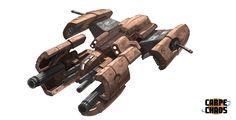 concept ships: CARPE CHAOS concept spaceship art part 3