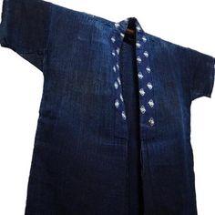 Indigo Hemp Hanten Farmer Noragi Jacket