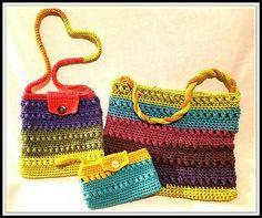 New Bernat Pops Inspiration to Northern Lights Handbag Pattern from YarnWars!