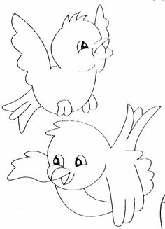 58 ideas for bird design pattern coloring pages Pattern Coloring Pages, Colouring Pages, Coloring Books, Bird Crafts, Paper Crafts, Embroidery Patterns, Hand Embroidery, Vogel Quilt, Bird Template