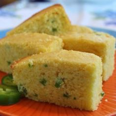 Sweet Jalapeno Cornbread Recipe - This spicy cornbread is not for the faint of heart! It has plenty of jalapeno peppers, so you may want to keep a glass of water nearby. Jalapeno Cornbread, Sweet Cornbread, Cornbread Cake, Moist Cornbread, Broccoli Cornbread, Jalapeno Bread, Jalapeno Recipes, Pepper Recipes, Cornbread Recipe Allrecipes