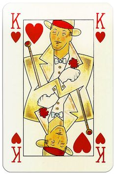 – King of hearts Orient Express playing cards by Piatnik King Of Hearts Card, King Of Spades, 15 December, Orient Express, Heart Cards, Art Design, Deck Of Cards, Tarot, Playing Cards