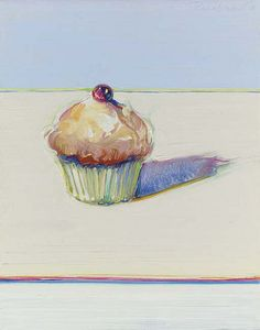 View Cupcake by Wayne Thiebaud on artnet. Browse upcoming and past auction lots by Wayne Thiebaud. Pop Art Artists, Famous Artists, Artist Art, Juan Sanchez Cotan, Pop Art Movement, 4th Grade Art, Arte Popular, Arts Ed, Teaching Art