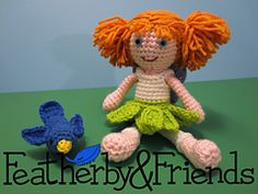 Lillie - Little Sister Doll in Fairy Costume - Crochet Pattern by Alicia Moore of Featherby & Friends
