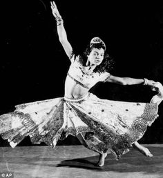 Eartha Kitt dances in a televised version of Oscar Wilde's play 'Salome' in 1955