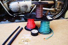 Motorcycle Wiring 101 Motorcycle wiring: Choosing the right wire.Motorcycle wiring: Choosing the right wire. Motorcycle Wiring, Motorcycle Gear, Steampunk Motorcycle, Custom Motorcycles, Custom Bikes, Custom Bobber, Vintage Motorcycles, Compro Moto, Cx 500