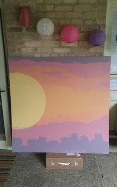 4' x 4' acrylic latex on canvas