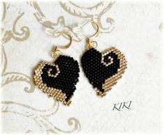 cute beaded hearts
