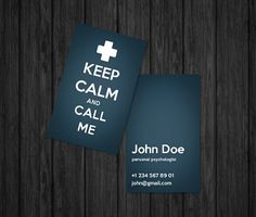 Psychologist business card by Oksanias.deviantart.com on @deviantART