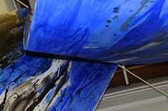 Urszula Wilk_painting installation_Sonata for Blue and 4 rooms