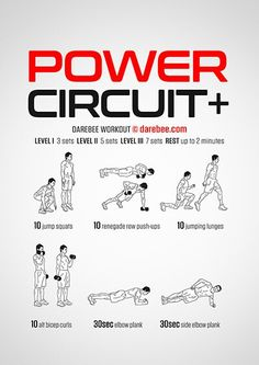 Power Circuit Workout   Posted By: CustomWeightLossProgram.com