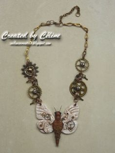 Céline´s Creaties: Steampunk Butterfly Necklace