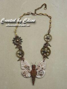 Céline´s Creaties: Steampunk Butterfly Necklace