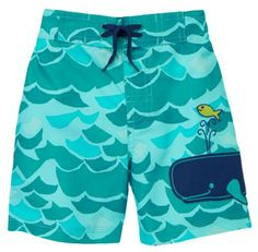 New Baby Gifts:  Waves and Whales Swim Trunks for Baby Boys @ Gymboree