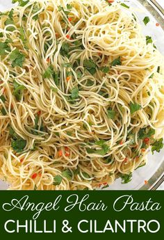 Looking for recipe for an easy pasta salad without mayo? This cold pasta salad is the best idea for a simple and spicy summer make ahead side dish! #chefnotrequired #pastasalad Coriander Cilantro, Fresh Coriander, Easy Pasta Salad, Pasta Salad Recipes, Angel Hair Pasta Recipes, Olive Oil Pasta, Mozzarella Pasta, Aussie Food, Traditional Taste