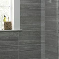 Wickes Everest Slate Porcelain Tile 600 x 300mm ...