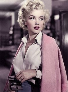 "Marilyn color enhanced photo from ""Niagara"""