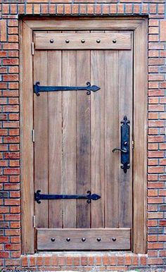 Custom Old World Plank Door With Battens Wood Entry - Doors .- Custom Old World Plank Door With Battens Wood Entry – Doors by Decora Rustic wood door style. Wood Entry Doors, Rustic Doors, Old Wooden Doors, Door Entry, Door Hinges, Entrance Doors, Front Entry, Cool Doors, The Doors