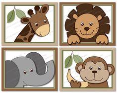 Baby Zoo Jungle Animal Printable Nursery by LittlePrintsParties, $8.00