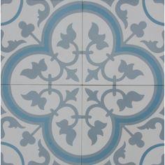 Vinyl Floor Tile Sticker - Floor decals - Carreaux Ciment Encaustic Trefle 2 Tile Sticker Pack in Thistle Floor Decal, Floor Stickers, Wc Decoration, Jugendstil Design, Tile Decals, Bathroom Flooring, Bathroom Tiling, Tile Patterns, Tile Design