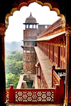 Agra Fort, a UNESCO World Heritage site in Agra, Uttar Pradesh, India. It is about km northwest of its more famous sister monument, the Taj Mahal. The fort can be more accurately described as a walled city. (built before Red Fort Agra by ~CitizenFresh Wonderful Places, Beautiful Places, Places Around The World, Around The Worlds, Taj Mahal, Agra Fort, Indian Architecture, Architecture Details, Jolie Photo