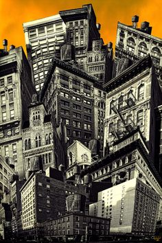 "Saatchi Online Artist: Chris Lord; Photomontage, 2012, Assemblage / Collage ""Walls and Towers"""
