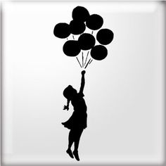 The Stencil Studio Banksy Style Balloon Girl 2 Reuseable Stencil - Size A5: Amazon.co.uk: Kitchen & Home