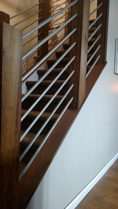 5 Robust Cool Tips: Master Bedroom Remodel Garage farmhouse bedroom remodel fixer upper.Bedroom Remodeling On A Budget Thrift Stores small bedroom remodel projects. Rebar Railing, Loft Railing, Railing Design, Stair Railing, Railing Ideas, Diy Stair, Dresser Remodel, Girls Bedroom, Rustic Stairs