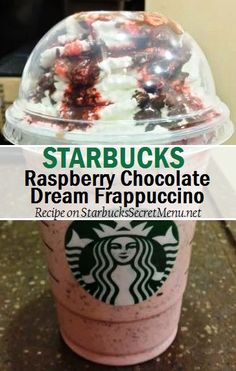 Starbucks Raspberry Chocolate Dream Frappuccino - - Can't go wrong with chocolate and raspberry! Here's a tasty, dessert like treat that'll take care of that sweet tooth! Frappuccino Recipe, Starbucks Frappuccino, Starbucks Coffee, Secret Starbucks Recipes, Starbucks Secret Menu Drinks, Smoothies, Chocolate Dreams, Coffee Drinks, Iced Coffee