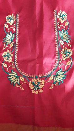 Simple Embroidery Designs, Simple Blouse Designs, Stylish Blouse Design, Embroidery Works, Beaded Embroidery, Machine Embroidery Designs, Hand Embroidery, Pattu Saree Blouse Designs, Blouse Designs Silk
