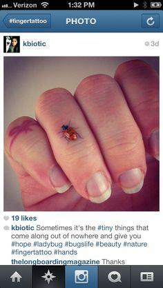 ladybug finger tattoo - Google Search