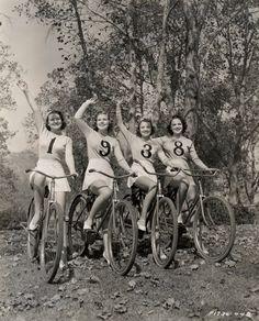 Carole Parker, Joyce Mathews, Lola Jensen and Alma Ross1938