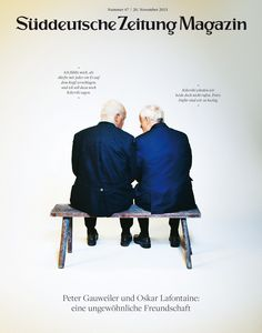 Süddeutsche Zeitung Magazin 47/2015 Coverphoto: Urban Zintel  Art-director Thomas Kartsolis  Deputy Art-director Birthe Steinbeck Design David Henne, Anna Meyer, Jonas Natterer & Daniel Schnitterbaum