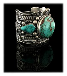 XL Royston Turquoise Bracelet - this is one dandy of a Turquoise Cuff Bracelet.  These days it is hard to find natural Turquoise this large... especially Royston Turquoise