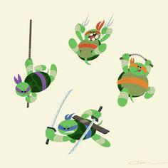 Go Ninja Go Ninja Go #tmnt #lunchtime #doodle by dheezen