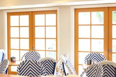 Sunny mornings in our breakfast room. Palms Hotel, Mornings, Bungalow, Curtains, Breakfast, Room, Home Decor, Style, Morning Coffee
