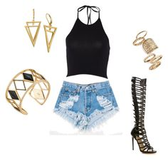 """""""I Slay Concert Look"""" by shopmypinkelephant on Polyvore featuring Levi's, Paul Andrew, Topshop and Rebecca Minkoff"""