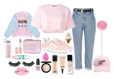 """sweety"" by makesurstyle ❤ liked on Polyvore featuring River Island, adidas Originals, New Look, Christian Dior, MAC Cosmetics, Steve J & Yoni P, Maybelline, Rimmel, Kate Spade and OPI"