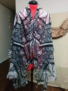 """""""Nordstrom 100% Wool Black and Grey Shawl Large Scarf Lightweight and Airy """""""