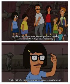 When Tina had a brilliant revelation. | 17 Times Cartoons Encouraged You To Be A Feminist
