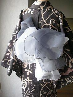 Summer kimono with chiffon belt by Kimono Modern
