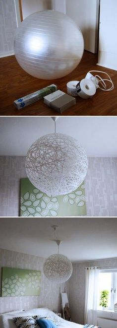 DIY: Make a large one by using an exercise ball! http://misslacraftmanualidades.blogspot.com.es/